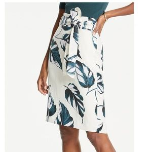NWT Leaves Tie Waist Pencil Skirt from Ann Taylor